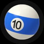 Бильярдный шар 10