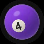 Бильярдный шар 4