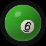 Бильярдный шар 6