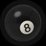 Бильярдный шар 8
