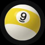Бильярдный шар 9